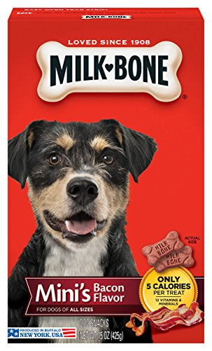 Milk-Bone Bacon  Dog Treat, Mini Biscuits, (Flavored Dog Treat Cookies)