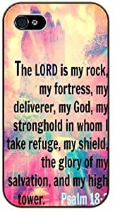 meilz aiaiThe Lord is my rock, my fortress, my deliverer, my God - Bible verse iPhone 5C black plastic case - Psalms 18meilz aiai by csjierou