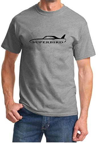 1970-plymouth-superbird-classic-outline-design-tshirt-xl-grey