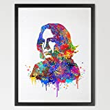 Dignovel Studios 8X10 Severus Snape Harry Potter Inspired Watercolor illustration Art Print Wall Art Poster Home Decor N045