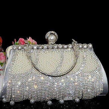de vache de soirée de mariage sac Silver Party formelle Événement Femmes gwHW1q5Rw