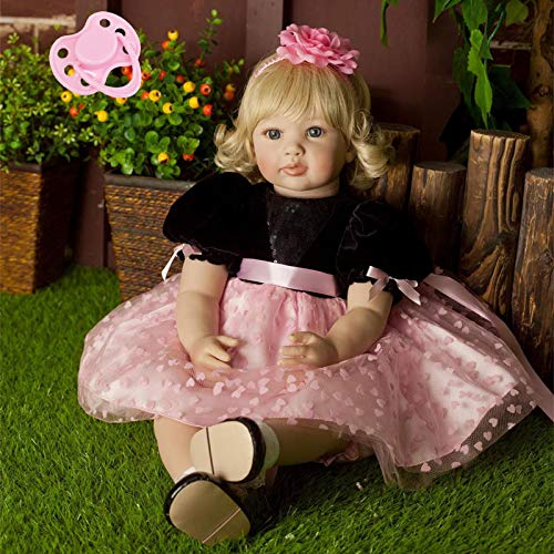Toddler Collection (NPK collection AnneDoll 23inch Toddler Girl Doll 58cm Toddler Reborn Baby Dolls Lovely Playhouse Doll Toy for Birthday Gift)