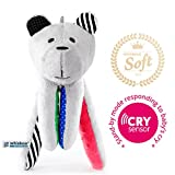 Whisbear Baby Sound Machine - The Best Sleep Soother on the Market - No More Sleepless Nights and Sleep Deprivation with this Award Winning White Noise Teddybear (Watermelon)
