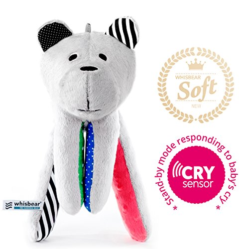 Whisbear Baby Sound Machine - The Best Sleep Soother on the Market - No More Sleepless Nights and Sleep Deprivation with this Award Winning White Noise Teddybear (Watermelon) by Whisbear