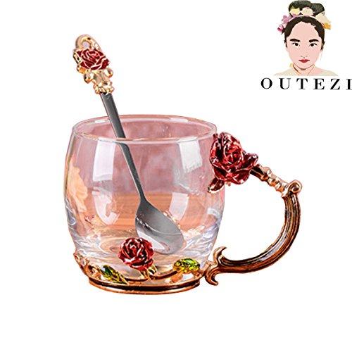 Rose Coffee Teacup - 3