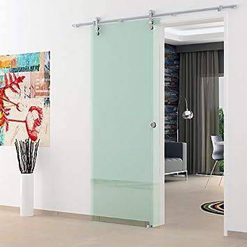 Glasschiebetr 900x2050mm Klarglas Levidor Edelstahl System Komplett Mit Offenen Laufrollen Und Muschelgriffen Schiebetr Aus Glas