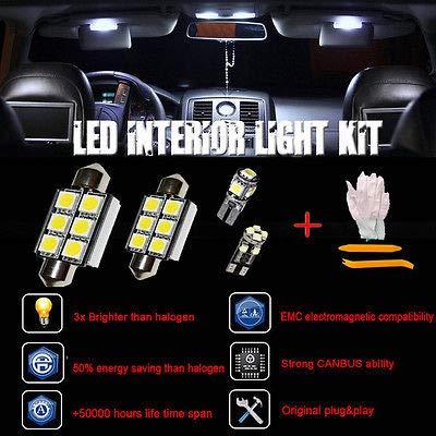 FidgetFidget Error Free White 13 SMD LED Interior Lights SEAT Leon Mk2 FR 1P1 1P Cupra ST