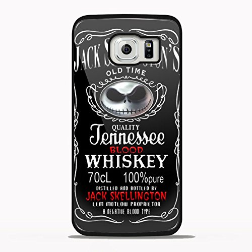 Jack Skellington Whiskey Hd Design for Samsung Galaxy and Iphone Case (Samsung S6 black) (Couples To Be For Halloween)