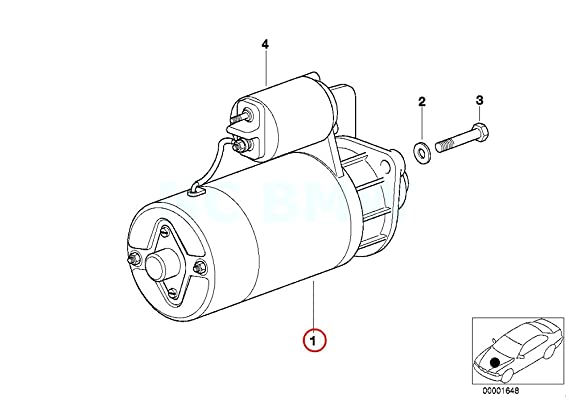 amazon bmw 12 41 2 354 709 starter motor automotive 1985 BMW White
