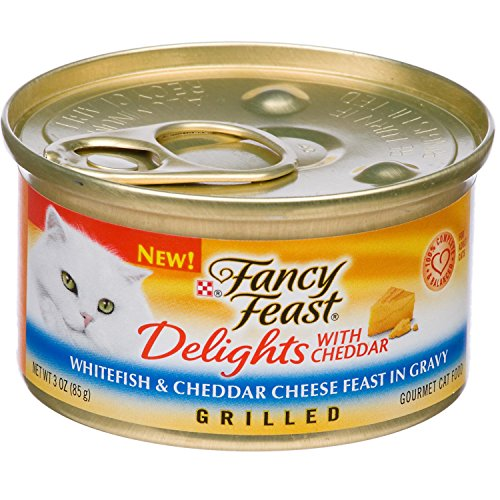 Fancy Feast Delights Grilled Whitefish & Cheddar Cheese Feas