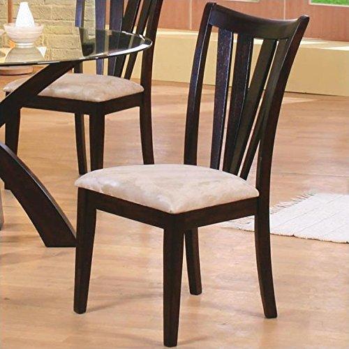 Shoemaker Vertical Slat Side Chairs Deep Merlot and Cream (Set of 2) (Room Merlot Dining Set)