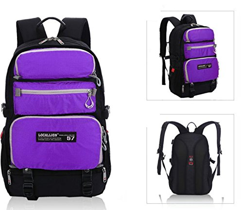 ROBAG Moda nylon mochilas bolso bandolera viaje al aire libre la mochila para computadora más , green purple