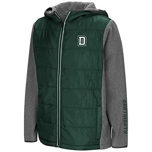 (Colosseum Youth Dartmouth Big Green Full Zip Puff Jacket - M)