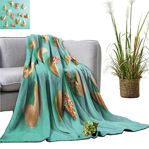 (YOYI Baby Blanket Fortune Cookies on Color backgroun Indoor/Outdoor, Comfortable for All Seasons 50