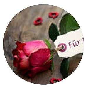 alfombrilla de ratón Rosa - ronda - 20cm