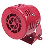 POSSBAY 12V Air Raid Siren Horn Fire Rescue Alarm for Motorcycle Car Boat