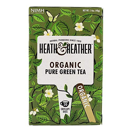 - Heath & Heather, Tea Pure Green Organic, 20 Count