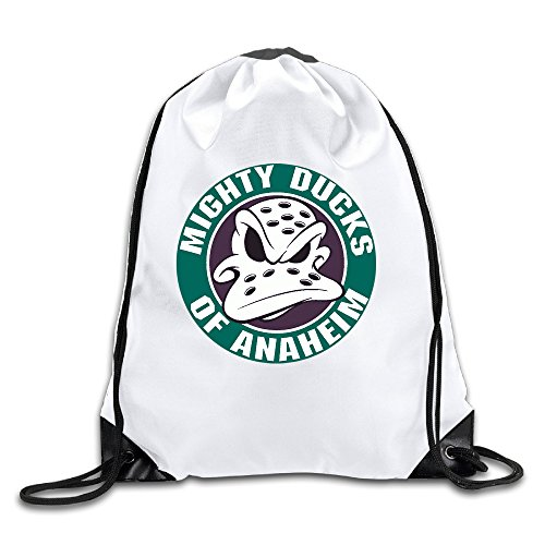 (Bieshabi Anaheim Ducks Logo Drawstring Backpacks Bag Sack Bag)