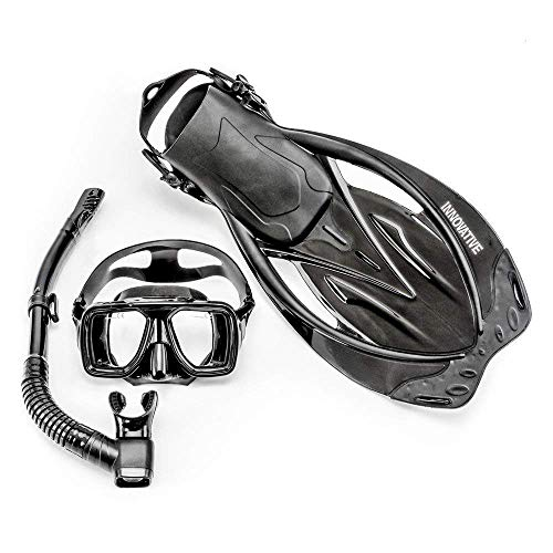 Innovative Scuba Concepts MSF4611 REEF, Adult Snorkel Set, Mask, Fins, Snorkel and Bag