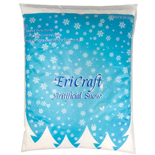 EriCraft Artificial Snow,8 Liters, 9.2 oz, Plastic Snow