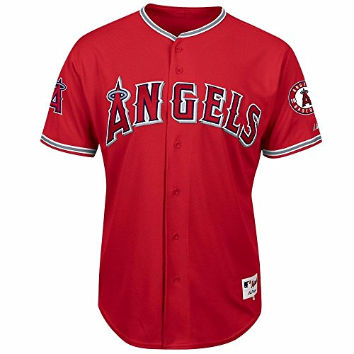 Los Angeles Angels of Anaheim Majestic Alternate Scarlet Authentic Jersey