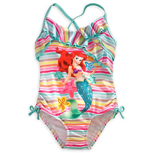 Disney Store Princess Ariel Girl 1 PC Swimsuit Size 5/6