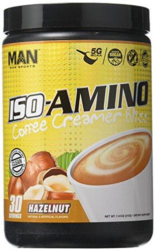 MAN Sports Iso-Amino Coffee Creamer Bliss BCAA Powder, Hazelnut, 210 Gram
