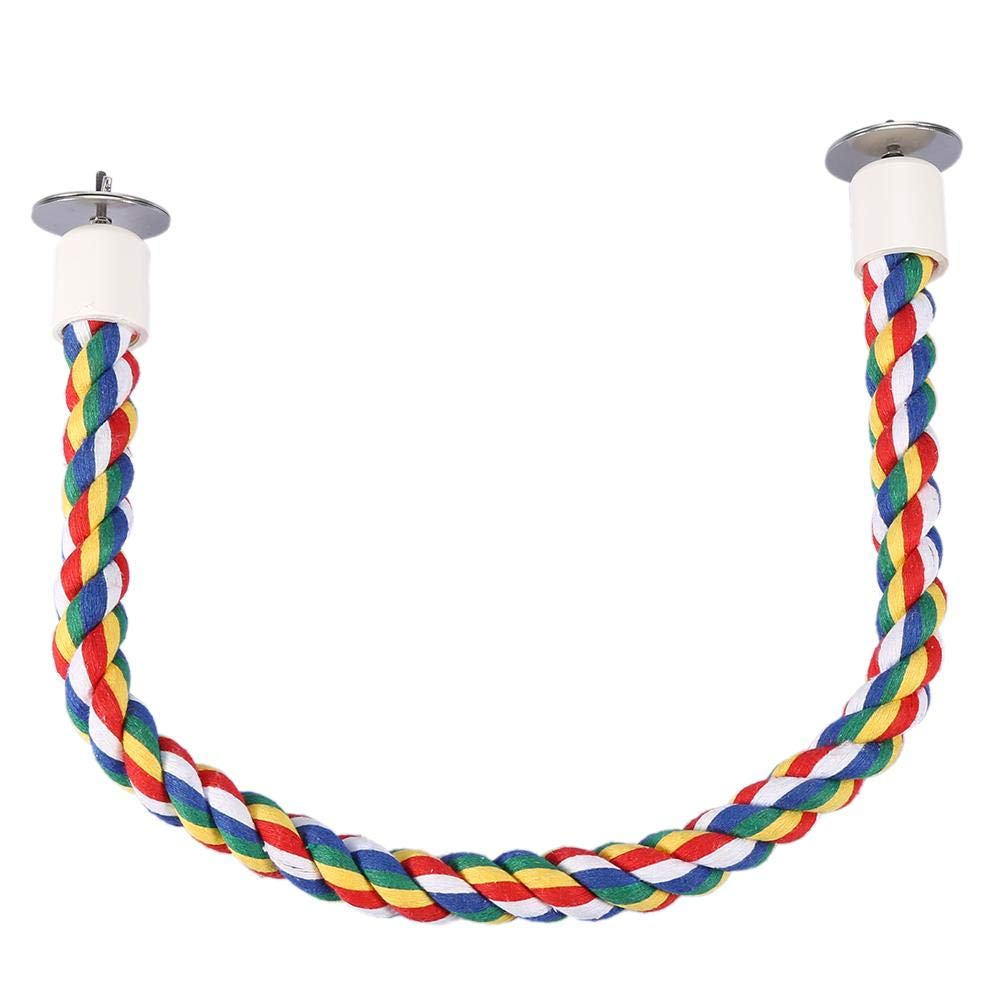 Bird Rope Perch Cotton Ropes Bird Cage Parrot Bungee Chewing Toys Develop Birds Coordination Balance for Parakeets Cockatiels Conures Macaws Parrots Love Birds Finches