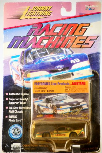 1999 - Playing Mantis - Johnny Lightning - Racing Machines - Performed Line Products - Ford Mustang Cobra - Trans-Am Series - Randy Ruhlman #49 - Performed Coyote Car - 1:64 Scale Die Cast - Bonus Photo Card - Very Rare - MOC - Out of Production - Limited Edition - Collectible 01 Moc