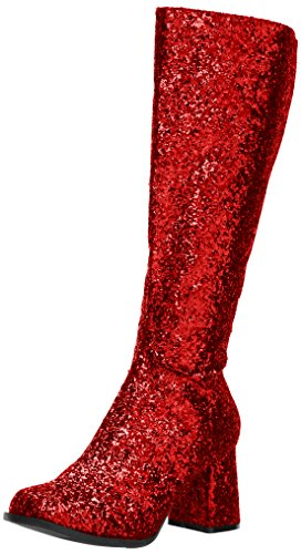 Ellie Shoes Women's Gogo-g Boot, Red, 12 US/12