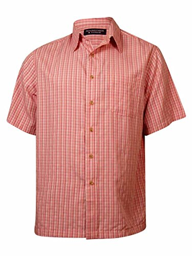 Roundtree & Yorke Men's Window Pane Plaid Buttoned Shirt (L, Vintage (Roundtree & Yorke Windowpane)