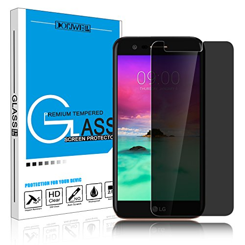 DONWELL 2017 LG Stylo 3 Privacy Anti Spy Anti-Glare Ballistic Tempered Glass Screen Protector for LG Stylo 3 Plus/Stylus 3/LS777 5.7