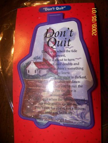 Read Online Don't Quit Bookmark pdf