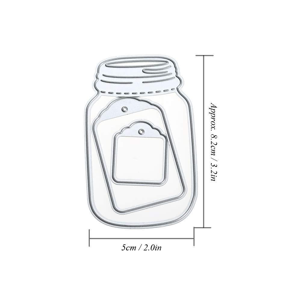 Color : Transparent , Size : 8 Kit de Inicio de Bordado Plantilla de metal de acero al carbono Relieve Troquelado Stencil Scrapbooking /Álbum Decorativo DIY Craft Tarjeta de papel Decoraci/ón
