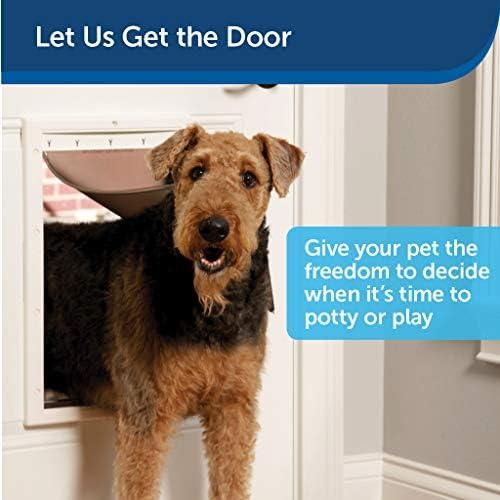 Puerta de plástico para mascotas mediana con solapa 2