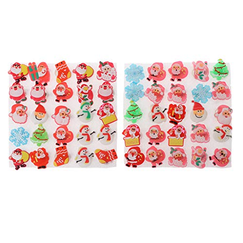 Mimgo 10Pcs Christmas LED Brooch Kids Party Favor Flashing Light Pins Fun Toy Children