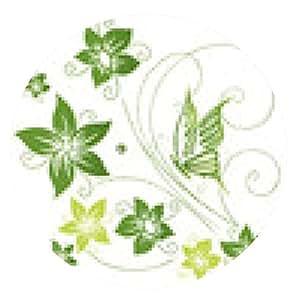 alfombrilla de ratón Primavera, marco, hojas, follaje, vid, verdes - ronda - 20cm