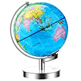 Best Illuminated Globes - JARBO 8 inches Illuminated World Globe for Kids Review