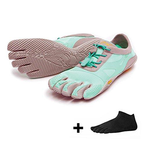 Kso Evo Women - Set - Scarpa Outdoor Toe / Scarpa A Piedi Nudi Con Calzini A Punta Liberi Menta / Grigio