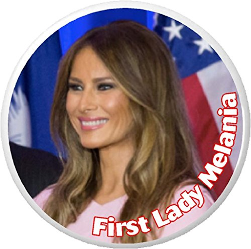 "First Lady Melania (pic) 2.25"" Keychain Trump"