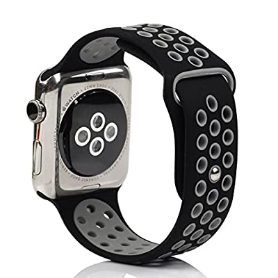 AnBell Watch Replacement Band for Apple Watch, Strap Bands for iwatch/Nike+, Silicone Sport Style Wristband, Personalized Design, 5 Colors, Both 38mm and 42mm Models Available