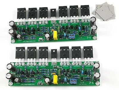 FidgetFidget Power Amplifier Board Assembled L15 MOSFET 2 Channel AMP (IRFP240 IRFP9240)