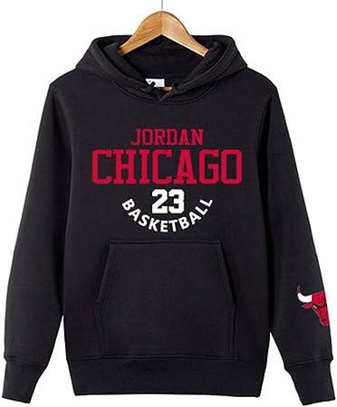 HS-QFQ 2019 El Nuevo Michael Jordan Los Toros De Chicago 23# Baloncesto Algodón Camisa De Entrenamiento Saco Además De Terciopelo Deportes De Otoño,Negro,XXXL185~195CM: Amazon.es: Hogar