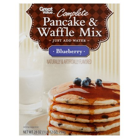 Pack of 6 - Great Value Complete Pancake & Waffle Mix, Blueberry, 28 oz by Great Value