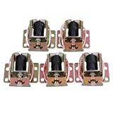 Mxfans 5 Pieces TFS-A31 Silver Aluminum Electric Lock Assembly Solenoid for File Cabine