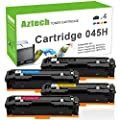 Aztech 4PK High Yield Compatible for Canon 045H 045 MF634cdw MF632cdw Toner Cartridge 045H for Canon Imageclass MF634cdw Canon Imageclass MF632cdw Canon Imageclass LBP612cdw Toner Ink Laser Printer