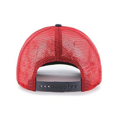 MLB Atlanta Braves Women's Glimmer Captain Adjustable Snapback Hat, Red