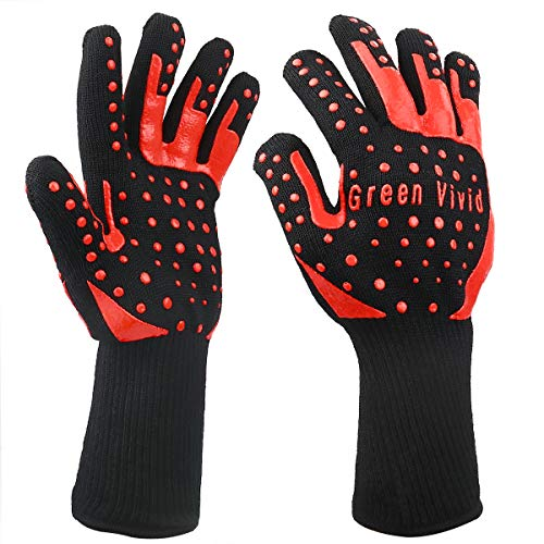Green Vivid Resistance Gloves Personal Temperature product image