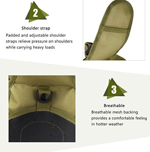 Hiking Travel Camping Bag Outdoor Shoulder Black Military Trekking Backpack IAxSpXw