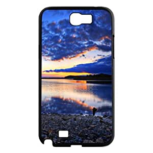 Samsung Galaxy Note 2 Cases Rock Water Light, Samsung Galaxy Note 2 Cases Water for Guys, [Black]